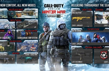 Activision reveals roadmap for Call of Duty: Mobile Season 13