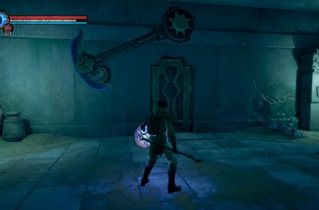 Where to find the lever for the chopping ax door in the temple in Chronos: Before the Ashes