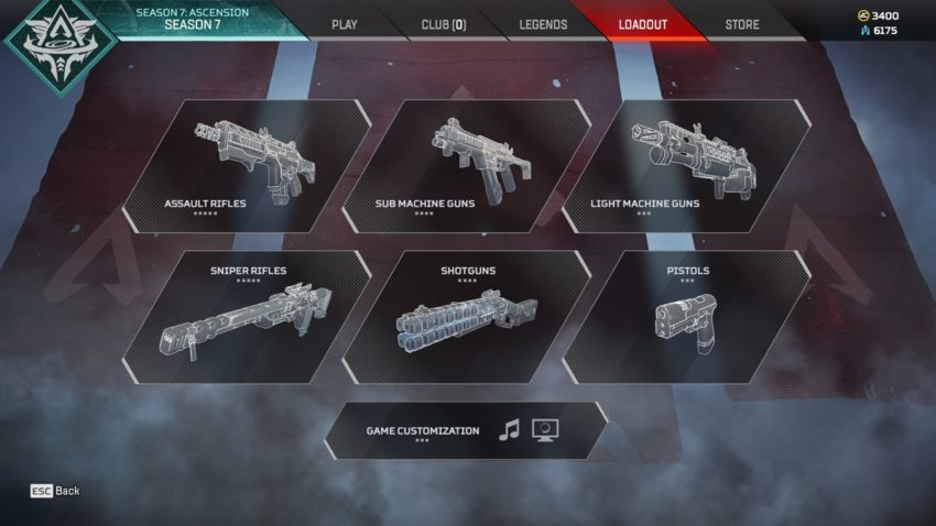 Loadout screen s7