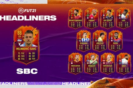 FIFA 21: How to complete Headliners Sergej Milinkovic-Savic SBC – Requirements and solutions