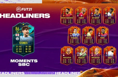 FIFA 21: How to complete Moments John Stones SBC