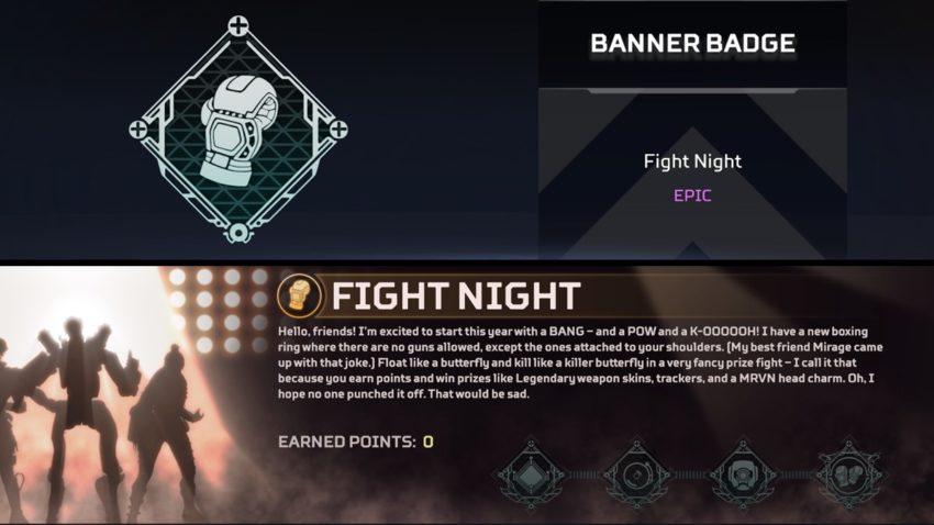 Fight Night badges