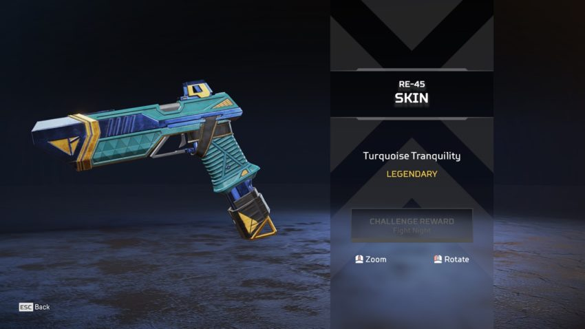 Turquoise Tranquility RE-45 skin
