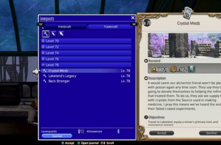 How to do gathering levequests in Final Fantasy XIV