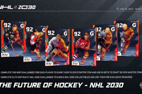 NHL 21: How to complete all HUT NHL 2030 master sets