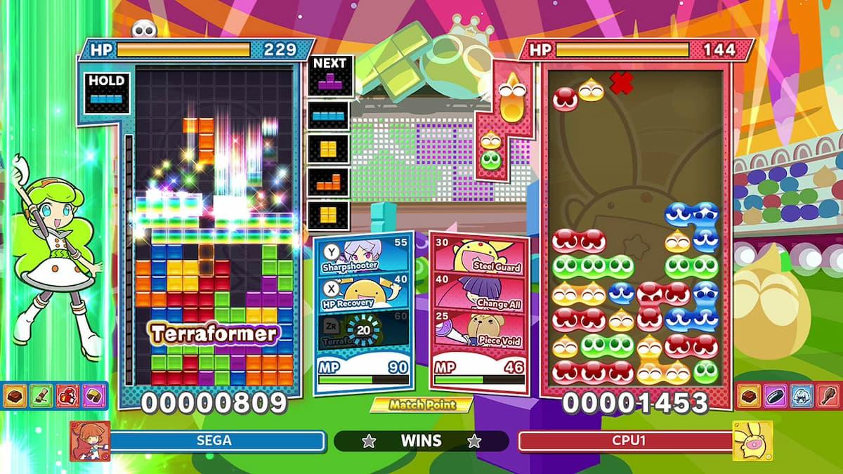 Puyo Puyo Tetris 2 Switch puzzle game
