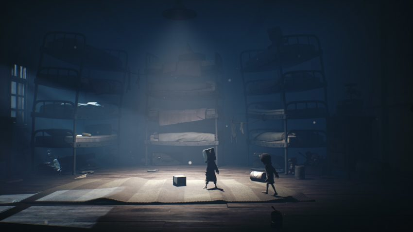 How to complete the school pictures with no eyes puzzle in Little Nightmares II