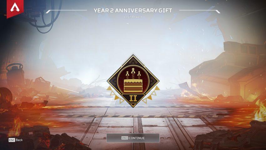 Year 2 Anniversary badge
