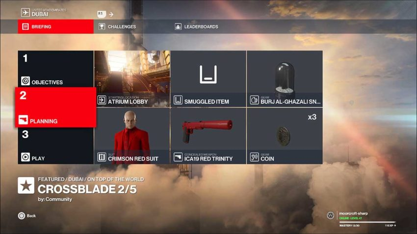 crossblade-loadout-hitman-3