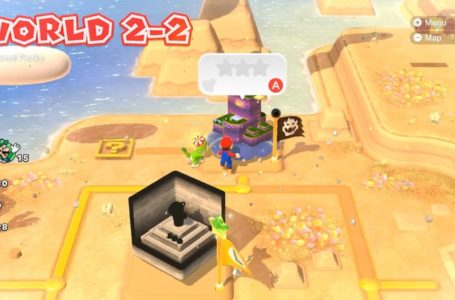 Where to find the stamp in World 2-2, Puffprod Peaks in Super Mario 3D World + Bowser's Fury