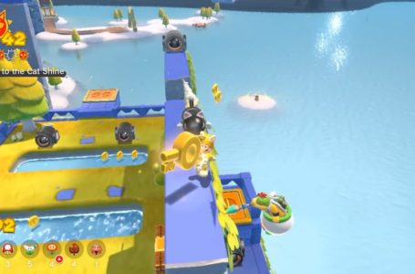 Where to find the Key to the Cat Shine on Pounce Bounce Isle in Super Mario 3D World + Bowser's Fury