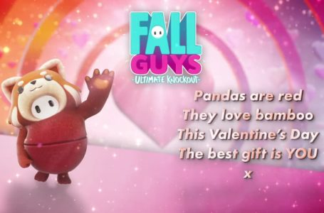 Fall Guys celebrates Valentine's Day with a limited-time Red Panda costume