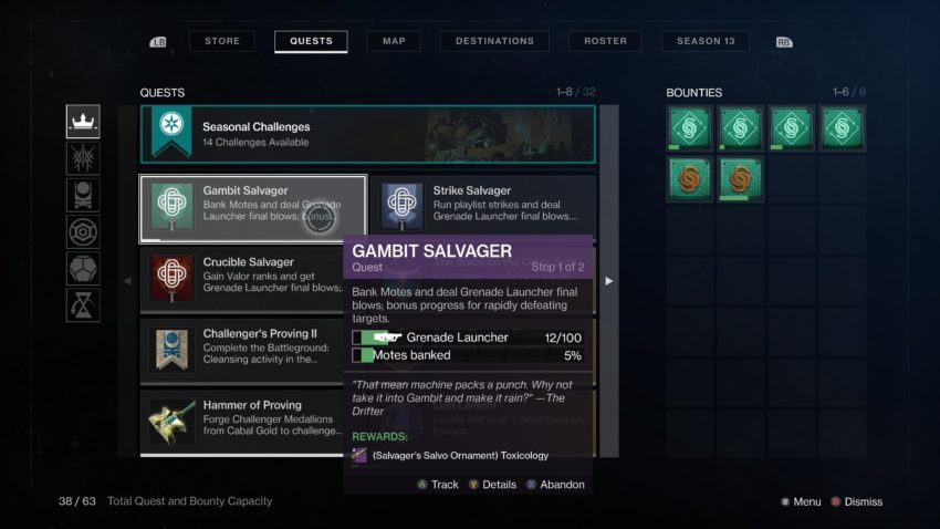 gambit salvager destiny 2