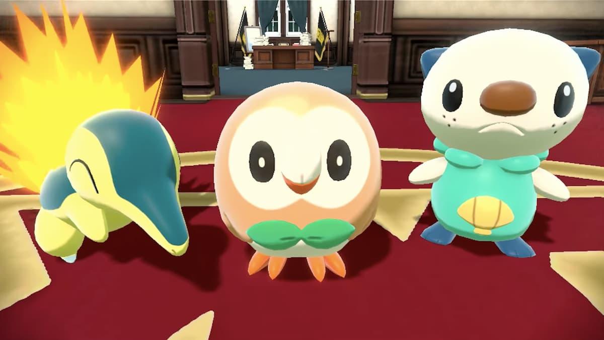 pokemon arceus legends starters