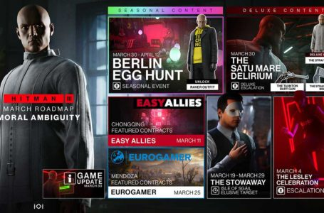 Hitman 3 March roadmap promises Escalations, Featured Contracts, a Seasonal Event, and more