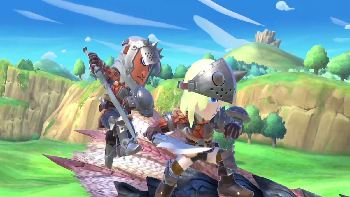 Super Smash Bros. Ultimate Monster Hunter Mii Fighter Costumes