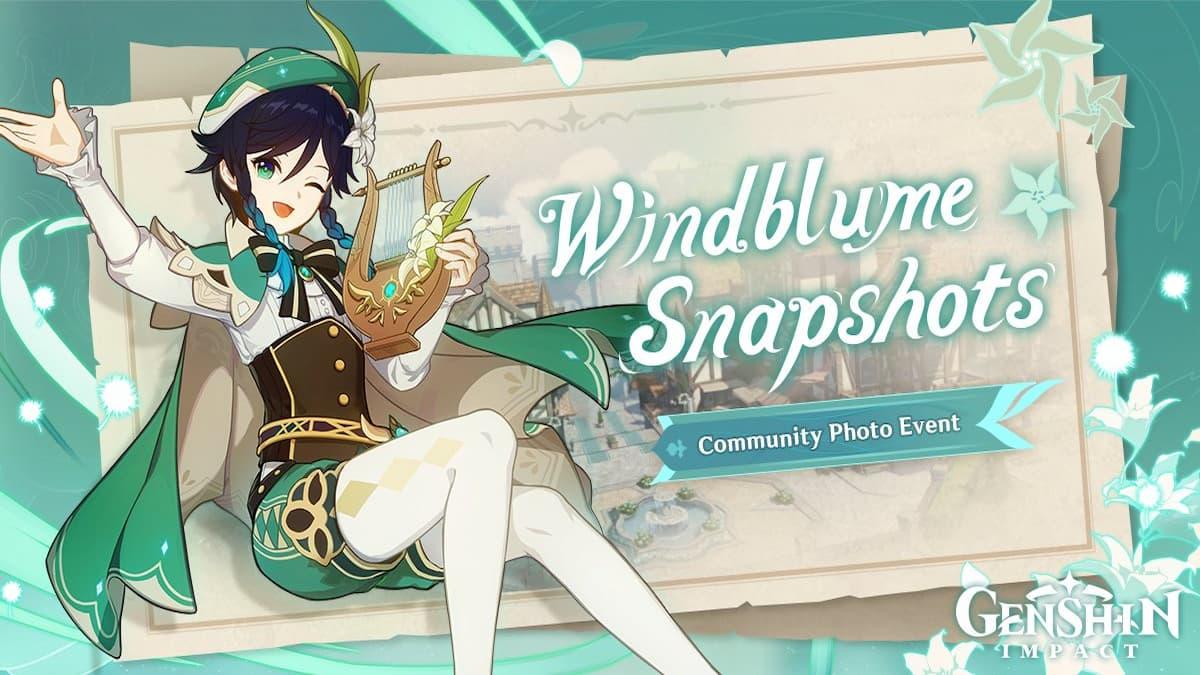 Genshin Impact Windblume Snapshot event