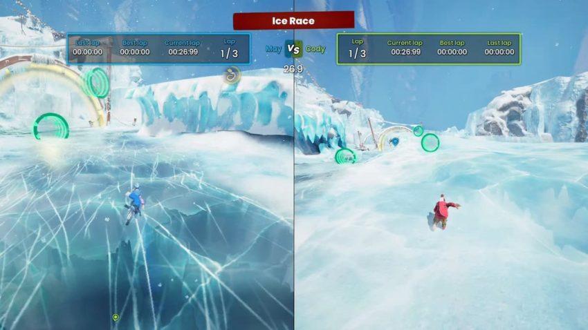It Takes Two Snowglobe Ice Race