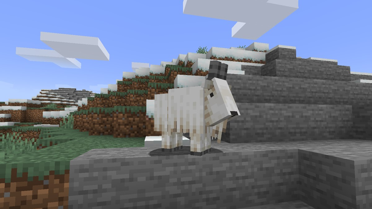 Goat in Mountain Biome