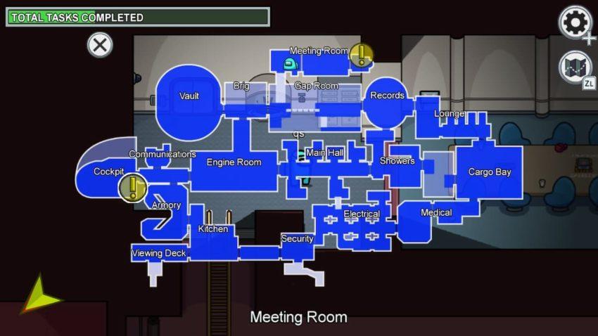 Among Us Meeting Room Airship