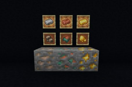 How Raw Ores work in Minecraft Snapshot 21w15a