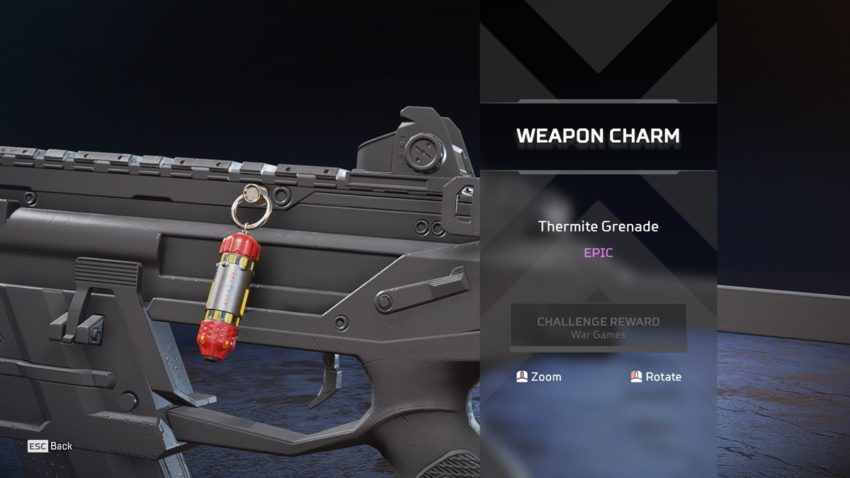 Thermite Grenade Charm