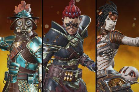 All Legend skins in the War Games Event for Apex Legends