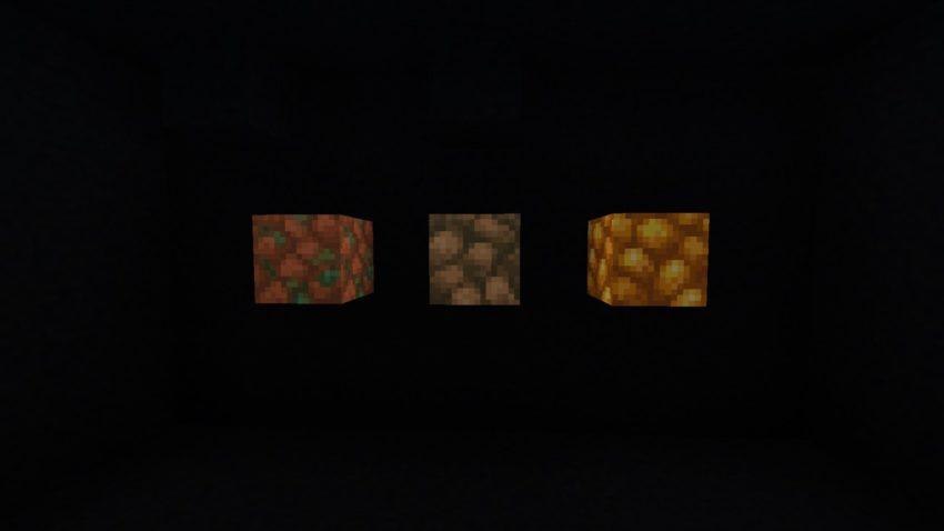 Raw Ore blocks