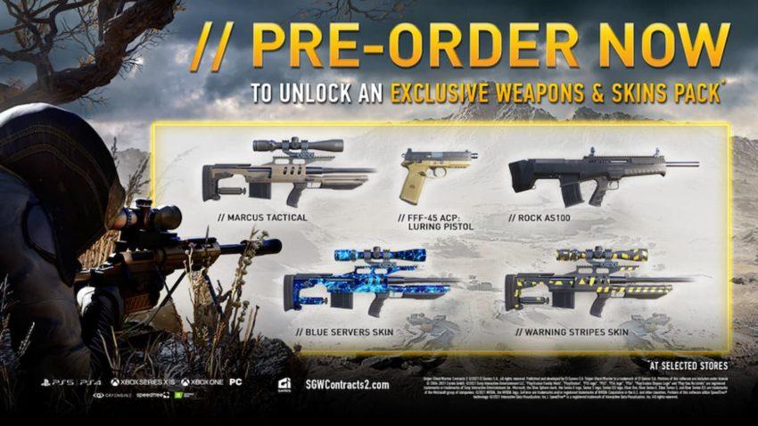 sniper ghost warrior contracts 2 pre order bonuses