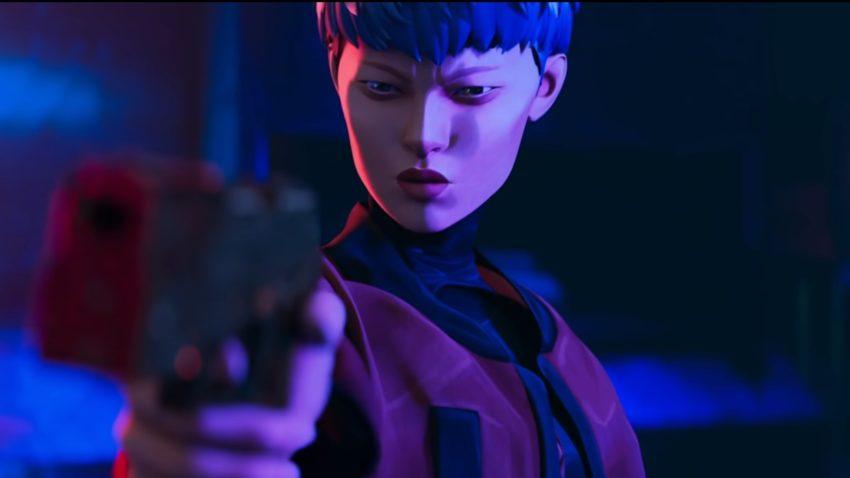 Valkyrie with a gun