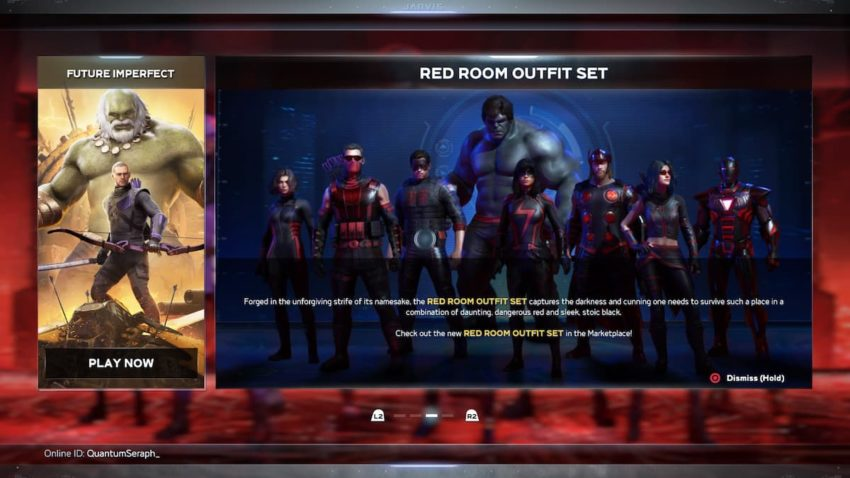 Marvel's Avengers Red Room Outfits
