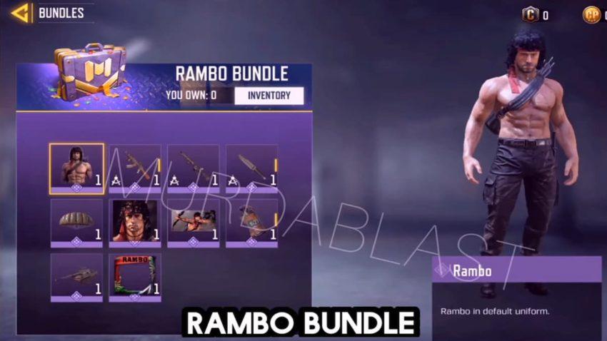 Rambo Bundle COD Mobile
