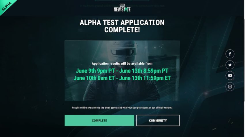 PUBG New State Closed Alpha Registration Complete