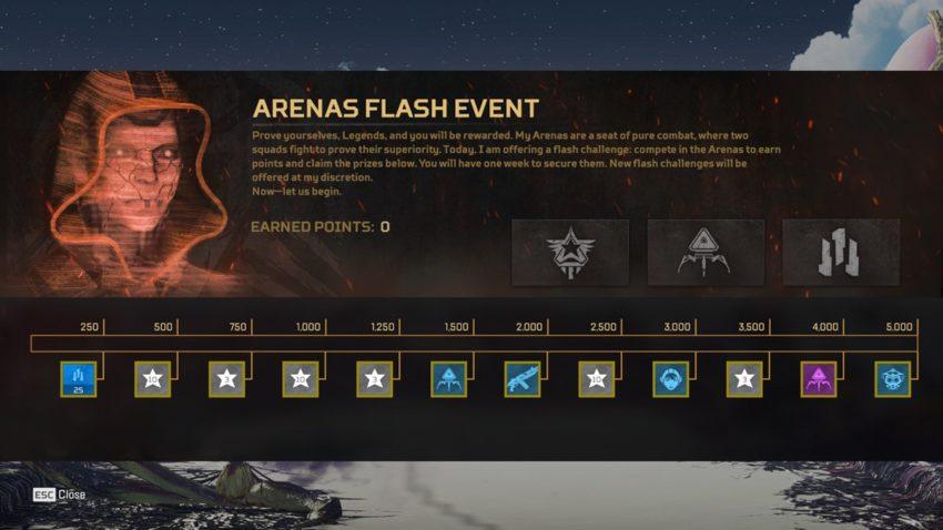 Arenas Flash Event 2 Prize