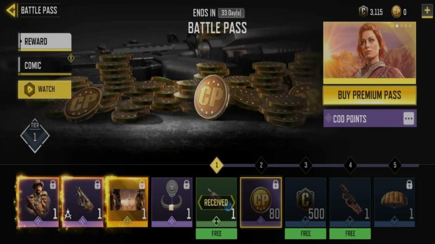 COD Mobile Season 4 Battle Pass rewards list