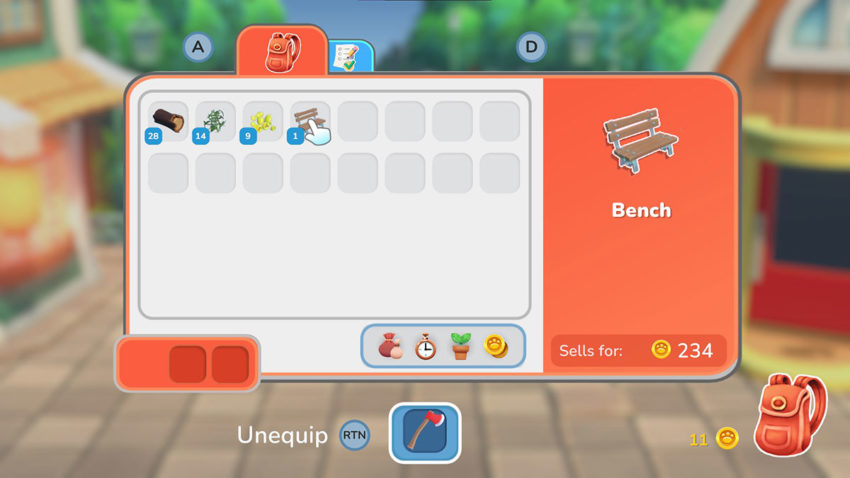 select-bench-from-inventory-in-hokko-life