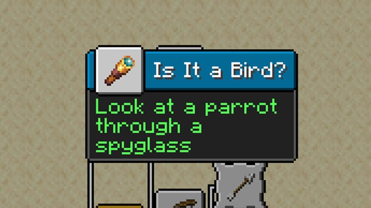 New Advancement - Is it a Bird