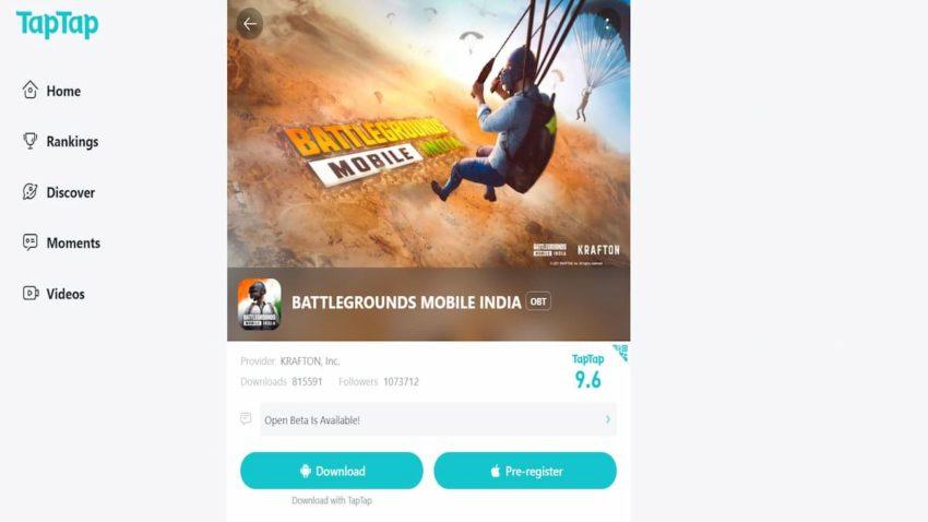 Battlegrounds Mobile India BGMI APK Download TapTap