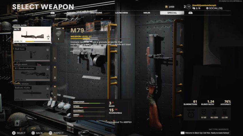 Call of Duty: Black Ops Cold War Special Weapons