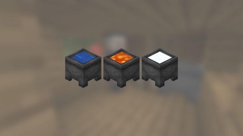 Minecraft Cauldrons all versions