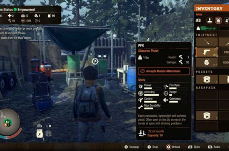 Tips and Tricks for using sidearms in State of Decay 2