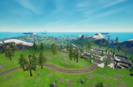 Where to place alien light communication devices on mountain tops in Fortnite