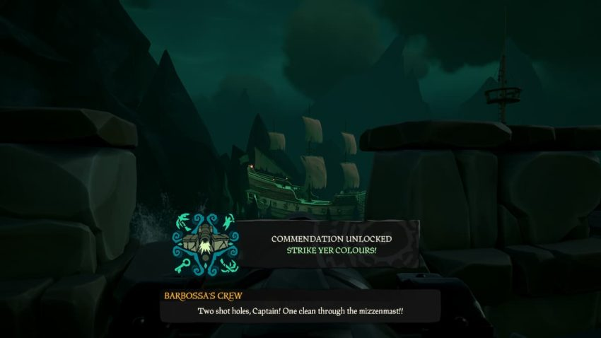 Sea of Thieves: A Pirate's Life Strike Yer Colors commendation