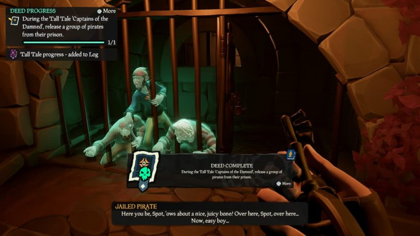 Sea of Thieves Captains of the Damned Tall Tale Key to Freedom