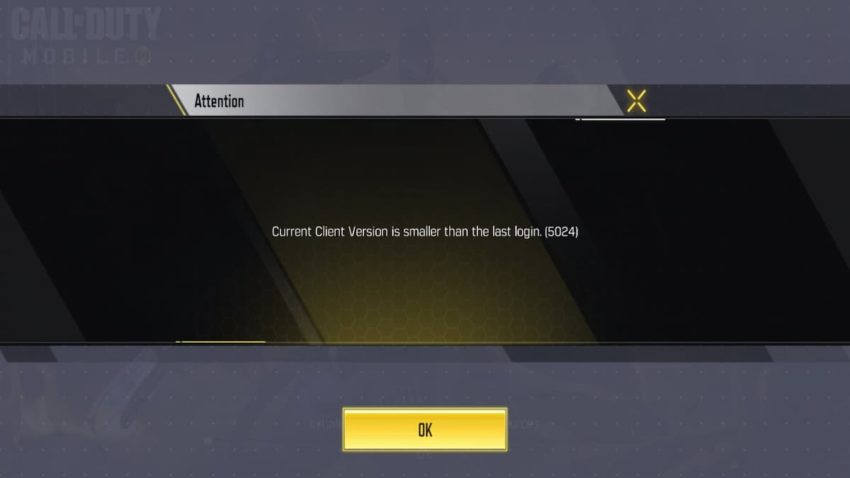 The error prevents players