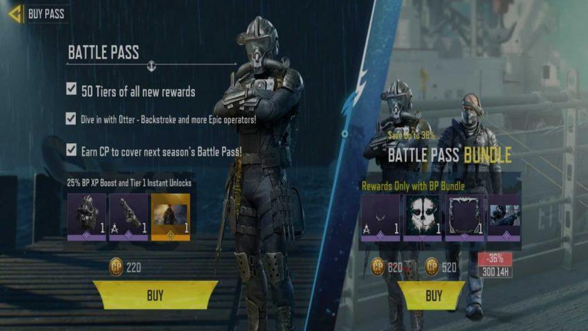 COD Mobile Season 5 Battle Pass Price and Rewards