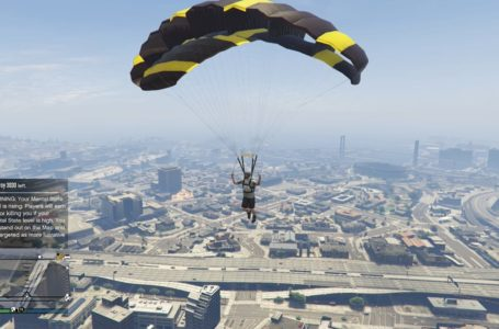 How to get a parachute in Grand Theft Auto V