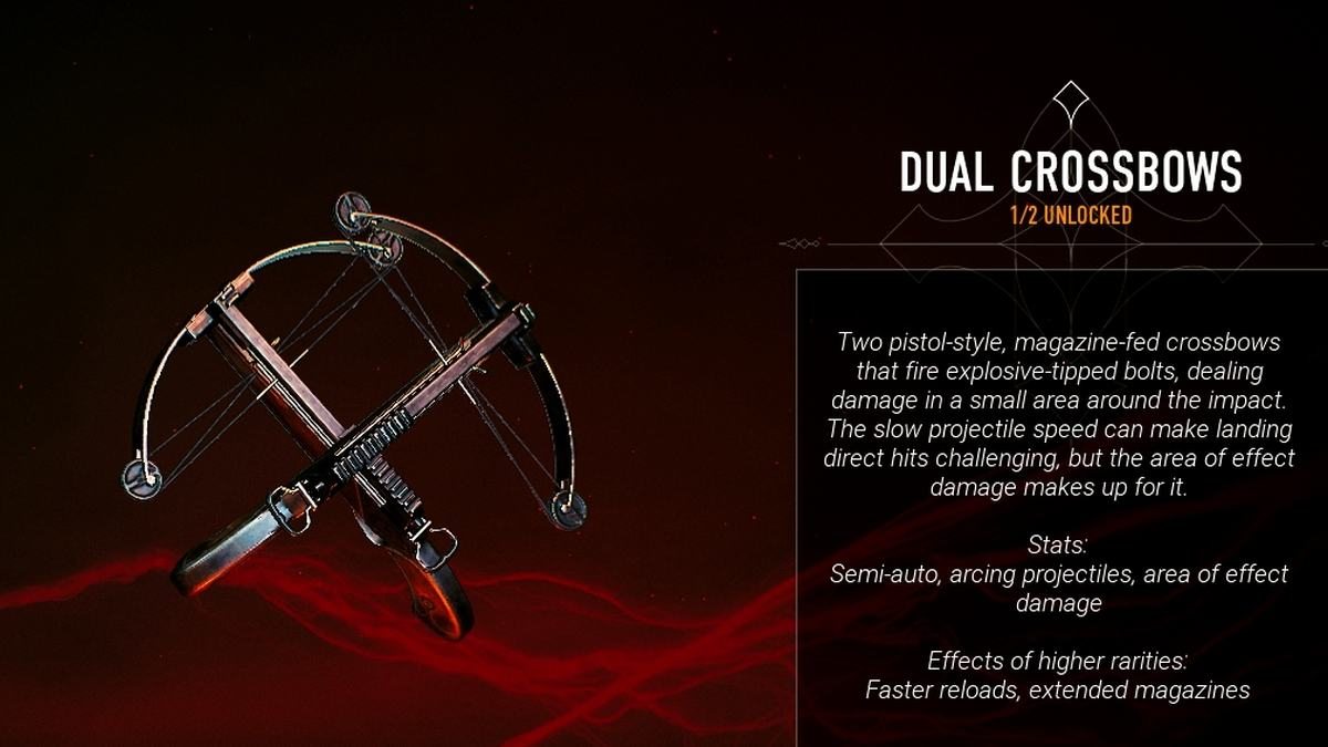Bloodhunt Dual Crossbows weapons
