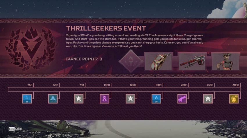 Thrillseekers Prize Tracker Week 1