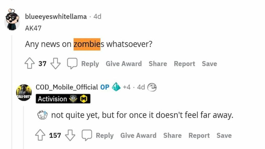 Zombies to return in COD Mobile Season 6